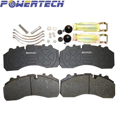 29087 CV brake pad with kits cast backing plate