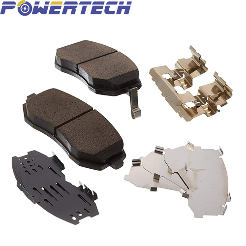Car&PV front&rear brake pad with clip kits