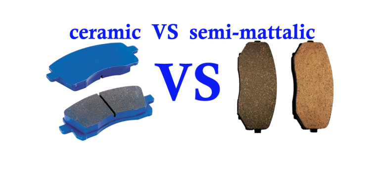 ceramic VS semi-mettalic disc brake pads supplier& manufacturer