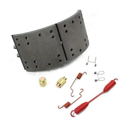 lined brake shoes with kits for commercial vehicle Powertech auto Parts-brake shoes manufacturer and supplielr
