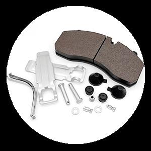 Truck trailer air disc brake pad with kits - Powertech Brake pads manufacturer factory