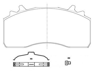 WVA 29315 Truck & Trailer Disc Brake Pad Mercedes Benz OE 0084206420/0084206320/0014215210 with repair kitsPowertech:Truck trailer brake part manufacturer supplier