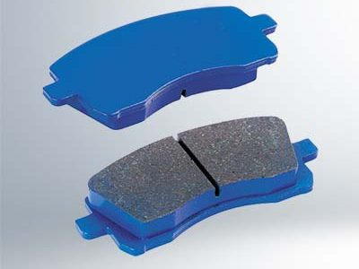 semi-metallic disc brake pads bule colour surface
