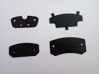 woven brake pad shims, RMR brake pad shims brake hardware, brake accessories